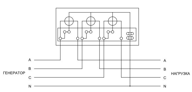 Пример схемы подключения
